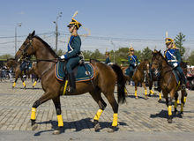 Cavalry show in Moscow Stock Photo