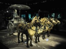 Cavalry of terracotta army. Terracotta Army. Clay soldiers of the Chinese emperor. The cavalry of the terracotta army. stock image