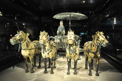 Cavalry of terracotta army. Terracotta Army. Clay soldiers of the Chinese emperor. The cavalry of the terracotta army. stock photography