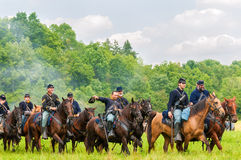 Cavalry victory parade Royalty Free Stock Photography