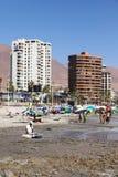 Cavancha海滩在伊基克,智利 免版税库存图片