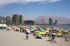 Cavancha Beach in Iquique, Chile Stock Photo