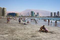 Cavancha Beach in Iquique, Chile Stock Photo