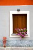Cavaria    wood venetian blind in the concrete orange Stock Images