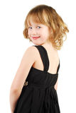 Cavcasian girl in elegant  evening dress Royalty Free Stock Photos