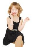 Cavcasian girl in elegant evening dress Stock Photo