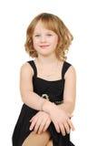 Cavcasian girl in elegant evening dress Stock Photos