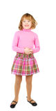 Cavcasian school  girl in pink Royalty Free Stock Photography