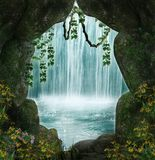 The cave stock illustration