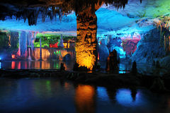 Cave. A beautiful cave in Guilin province,China Royalty Free Stock Photos