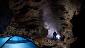 In a cave Stock Images