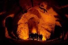 In a cave. Royalty Free Stock Images