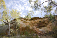 Cave. Aborginal caves nearCoonabarabran Nsw Australia location secret The Sandstone Caves Royalty Free Stock Photography