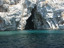 Cave in aegean sea turkey Stock Photo