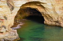 Cave in a Algarve cliff Royalty Free Stock Photo