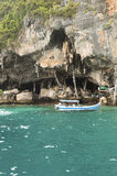 Cave in Andaman Sea Royalty Free Stock Images