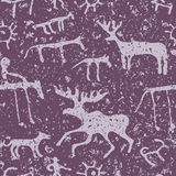 Cave art seamless pattern Royalty Free Stock Images