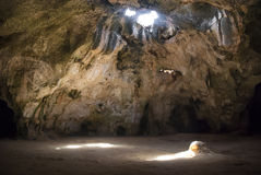 Cave on Aruba Royalty Free Stock Images