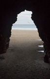 Cave on the Beach of the Cathedrals Royalty Free Stock Images