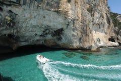 The cave of Bue Marino on the island of Sardinia Royalty Free Stock Photo