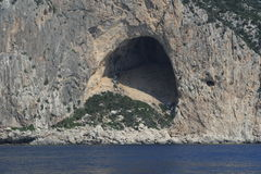 The cave at Cala Gonone on the island of Sardinia Royalty Free Stock Photography