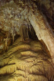Inside cave. Calcite formation in the cave Royalty Free Stock Photo