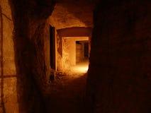 Cave catacomb stock photo