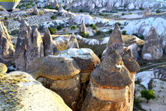 Cave chimneys at Cappadocia Stock Photos