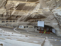 Cave church in Cairo. Egypt. Orthodox christian church in Cairo built in the huge cave for 20.000 people is the biggest modern built orthodox church in the Stock Images