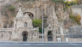 The Cave Church  located inside Gellert Hill, Budapest, Hungary Stock Photo