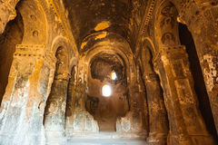 Cave church in Selime Cappadocia Turkey Royalty Free Stock Images