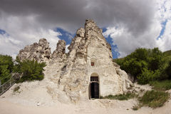 The cave church of the Sicilian Icon of the Mother of God near Voronezh city, Russia Royalty Free Stock Photos