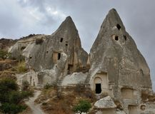 Cave churches of Goreme open air museum,monastic complex,Turkey Royalty Free Stock Photos