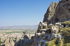 Cave city in Cappadocia. Day view of cave city in Cappadocia,Turkey Royalty Free Stock Image