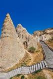 Cave city in Cappadocia Turkey Stock Image