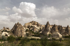 Cave city in Cappadocia. Turkey Royalty Free Stock Photo