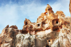 Cave city in Cappadocia Turkey. Cave city in Cappadocia. Beauty world Turkey Royalty Free Stock Images