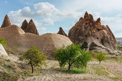Cave city in Cappadocia Turkey. Cave city in Cappadocia. Beauty world Turkey Royalty Free Stock Photos