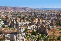 Cave city in Cappadocia Turkey Royalty Free Stock Images