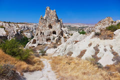 Cave city in Cappadocia Turkey. Nature background Stock Images