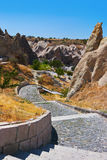 Cave city in Cappadocia Turkey. Nature background Stock Photography