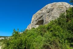 Cave City in Cherkez-Kermen Valley, Crimea Stock Images