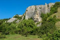 Cave City in Cherkez-Kermen Valley, Crimea Stock Image