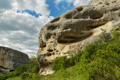 Cave City in Cherkez-Kermen Valley, Crimea Royalty Free Stock Image