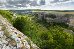 Cave City in Cherkez-Kermen Valley, Crimea Royalty Free Stock Images