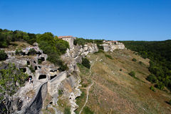 Cave city chufut calais Royalty Free Stock Image