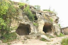 Cave city Chufut-Kale Bakhchisaray Royalty Free Stock Images