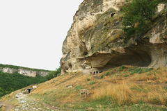 Cave city Chufut-Kale Bakhchisaray Stock Photography