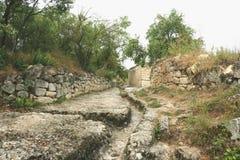 Cave city Chufut-Kale Bakhchisaray Royalty Free Stock Image