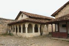 Cave city Chufut-Kale Bakhchisaray Royalty Free Stock Photos